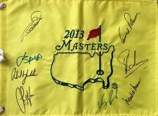 Jordan Spieth & 7 Others Inc Arnold Palmer signed Masters Flag UACC AFTAL dealer