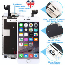 White For iPhone 6S Screen Replacement Digitizer LCD Touch Home Button Camera UK