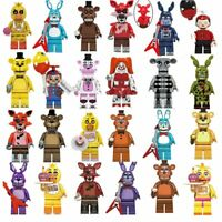 8pcs/set Five Nights At Freddy's Bonnie Foxy Freddy Kids Building Blocks Toys