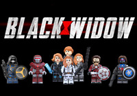 Black Widow Movie New Lot Custom 8 Minifigures Set - USA SELLER
