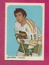RARE 1973-74 WHA QUAKER OATES COUGARS JAN POPIEL EX-MT MINI CARD(INV#1362)