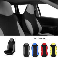 Washable Leather Fabric Gray Car Front Single Seat Covers Seat Bucket Protector