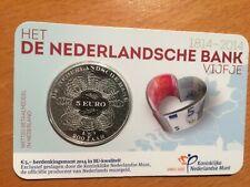 BU Coincard Nederland van 5 euro  Ned. Bank uit 2014