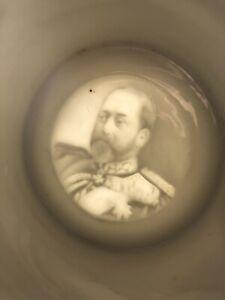Antique King Edward VII Coronation 1902 Mug Lithophane Base
