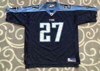 Vintage Eddie George Tennessee Titans Reebok NFL Football Jersey  Men's Size XL