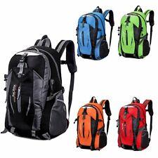 Travel Sports Shoulder Backpack Hiking Waterproof Zipper Laptop School Bag 40L