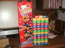 Mattel Uno Stacko Block Tower Game 1994 No Dice but complete set in original box