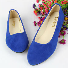 New Women Lady Flat Ballet Shoes Slip On Flats Boat Single Shoes Loafers Multi