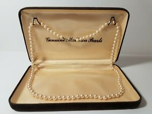 PEARL NECKLACE GENUINE MALLORCA PEARLS IN A HINGED FELT BOX
