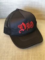 DIO Trucker Hat Embroidered Patch Cap Music Rock Band Mesh Rainbow Last In Line