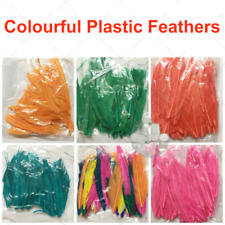 Assorted Colours Plastic Feathers Craft Supplies Home Decor DIY Material