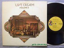 Cream Live Cream Volume II LP Atco SD 7005 Stereo 1972 Atlantic Record Club VG