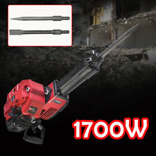 2 Stroke Gas Demolition Jack Hammer Concrete Breaker Drill with Chisels 52cc