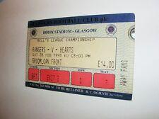 used ticket RANGERS FC Glasgow - HEARTS FC 28.02.1998