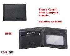 Pierre Cardin Mens Black Genuine Italian Leather Slim Compact Wallet RFID PC1160