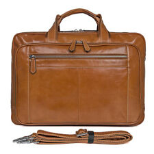 J.M.D Real Leather 17 Inch Laptop Carry On Overnight Bag Business Briefcase