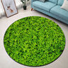 Area Rug Carpet Round Floor Mat Four-leaf clover Green Crawling Mat Home Decor