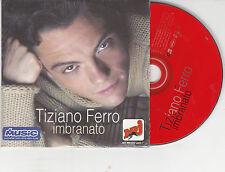 CD CARTONNE CARDSLEEVE 2T TIZIANO FERRO IMBRANATO feat VERSION FRANCO/ITALIENNE