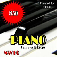 🎹 Piano Samples and Loops Pack, 850 WAV of High Quality, Digital, Track, Music.