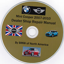 Mini Cooper 2007 -2010 By BMW of N.A. Dealer Repair Shop & Maintenance Manual.