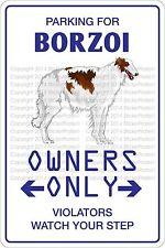 "*Aluminum* Parking For Borzoi 8""x12"" Metal Novelty Sign Ns 424"