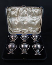 Antique hallmarked sterling silver miniature cup set
