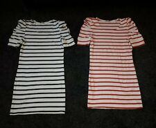 VILA T Shirt Striped 2x (Denna) Dresses Red/Black Size Small New with out tags