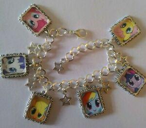 Silver Plated Charm Bracelet  My Little Pony Mlp Pinkie Pie Rainbow The Movie