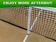 2x Adjustable A-Grade Tennis Net Centre Strap Band in White with Locking Hook