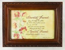 """Sankyo Wood Music Box Plays What a Friend We Have in Jesus 8 x 6"""" Photo Jewelry"""