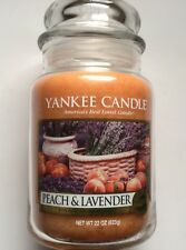 Yankee Candle PEACH & LAVENDER 22 oz LARGE JAR HTF SCENT FREE SHIPPING