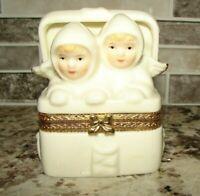 Vintage Formalities By Baum Bros Snow Angels Trinket Box