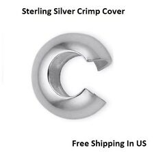 Sterling Silver Crimp Cover 3 MM ( Pack Of 100 ) Made In USA