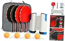 New listing Table Tennis Set, 4 Ping Pong Paddles with 8 Table Tennis Balls and Red