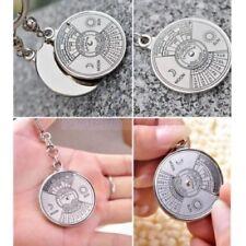 Perpetual Calendar Key Chain 50 Years 2010-2060 Silver Key Ring Free Gift Bag