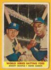 Mickey Mantle/ Hank Aaron - 1958 Topps #418 World Series Batting Foes
