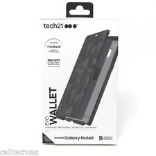 Brand New Tech21 EVO Wallet Case for Samsung Galaxy Note8 Note 8 - Black