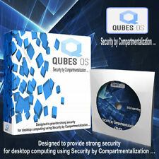QUBES OS Operating System 64 bit Secure Digital Life Privacy & Protection - DVD