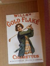 Postcard Advertising Wills Gold Flake Old Advert Modern card unposted