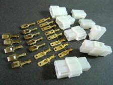New listing T Plug 2 Wire Socket Connector w/ 6.3mm Male & Female Terminals x 5 Sets #gtc
