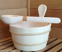 PREMIUM SAUNA BUCKET AND DIPPER --FREE SHIPPING!