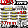 10x 37mm 3 SMD LED 239 272 C5W CANBUS NO ERROR WHITE INTERIOR LIGHT FESTOON BULB
