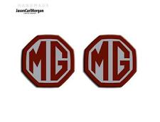 MG ZR ZS,MGF MK1 LE500 Badge Inserts Grill & Boot Badges 59mm Burgundy Silver