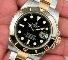 Rolex SUBMARINER 116613 Mens Steel & Yellow Gold Black Ceramic Bezel 40MM