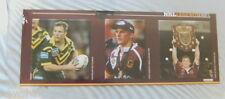 #T22.  DARREN LOCKYER  RUGBY LEAGUE POSTER, BRISBANE  BRONCOS, ORIGIN & AUST.