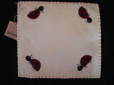 Primitive Ladybug Parade Candle Mat ~ Doily New Gr-147 New ladybugs