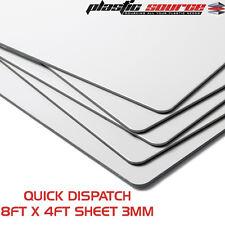 3mm 8ft x 4ft 1220m x2440mm White Aluminium Composite Sheet ( Dibond Alt )