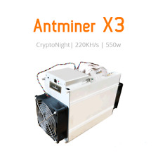 Antminer X3 (220Kh) from CryptoNight  ASIC Miner 500W PSU Is Not IncludED