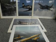 Lot of Five Large 20 x 16 Military Aircraft Posters-1983 Power Graphics Corp