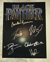 Rare - Chadwick Boseman & Stan Lee Black Panther Cast Signed Script w/COA